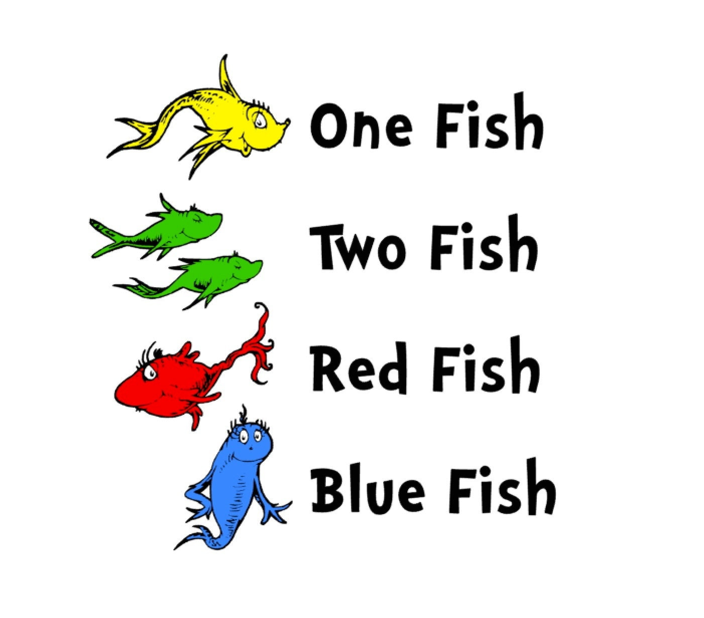 Svg studio dr seuss one fish two fish scalable vector instant for One fish two fish red fish blue fish costume