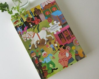 Vintage Children's Puzzle with a Circus by Jumbo Hausemann & Hotte NV Amsterdam Holland 60s