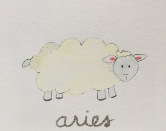 Aries Baby and Child Zodiac Picture