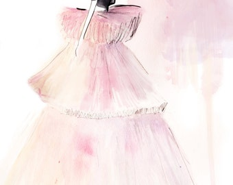 Giambattista Valli Spring Couture 2016 02 Fine Art Print