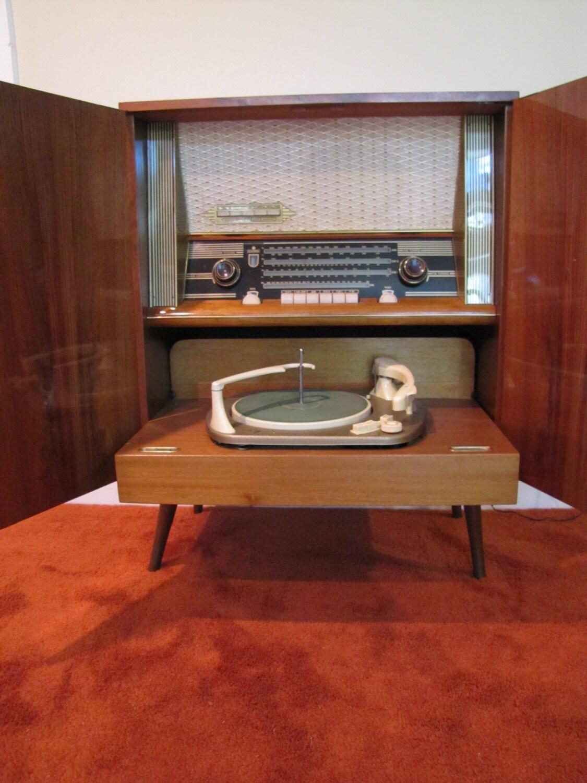 Mid Century Modern Telefunken Kaiser Stereo Cabinet