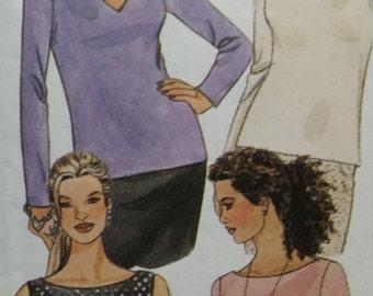 McCalls 2306, bias top, figure flattering, optional necklines, sizes 8 10
