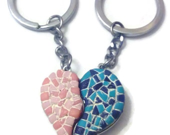 Keyring heart two in one