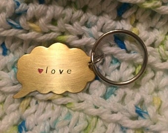 Say Anything Thought Bubble Keychain