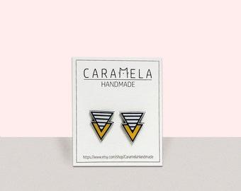 Arrow earrings Geometric shape earrings studs earrings colorful earrings Gift for her