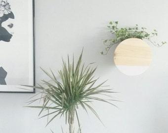 Circle wall vase - flower vase - round plant holder - hanging planter