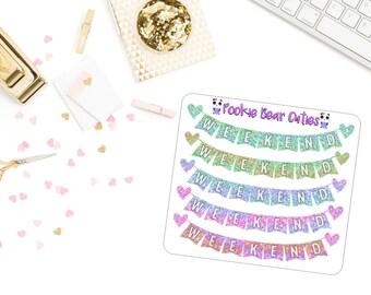 Pastel Gradient Glitter Weekend Banner Stickers-082