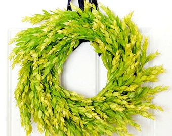 Bright Greenery Wreath | Simple Wreath | Front Door Wreath | Outdoor Wreath | Year Round Wreath | Indoor Wreath | Housewarming Gift