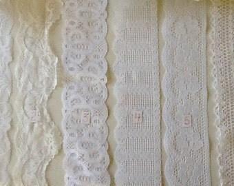 """3-1/2"""" White Flat Lace"""