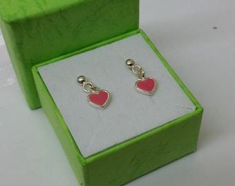 Heart Stud Earrings 925 Silver KO139