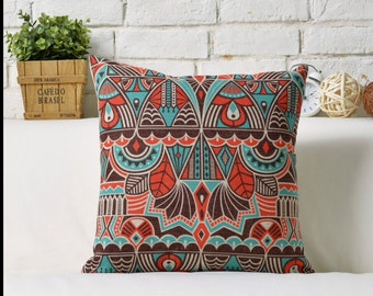 Trendy colour print Throw Pillow, Decorative Pillow Cover, Cushion Cover, Bedroom Decor, Sofa Pillow Case, Accent Pillow Living Room