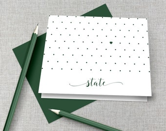 Michigan State Thank You Note / Michigan State Graduation Gift / Go Green Go White Stationery / Michigan State Gift / Go Green Go White Gift