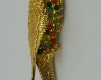 Denicola Parrot Brooch Pin