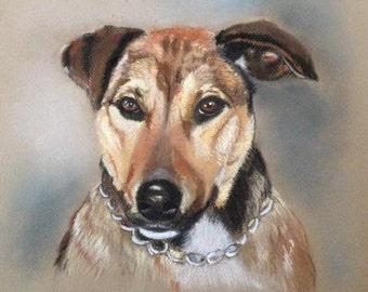 Custom pastel pet portrait, pet portrait, A3 size, head/shoulders, dog portrait, memorial, pastel painting