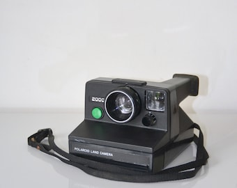 Camera Polaroid 2000, green button, Land Camera (film SX 70)