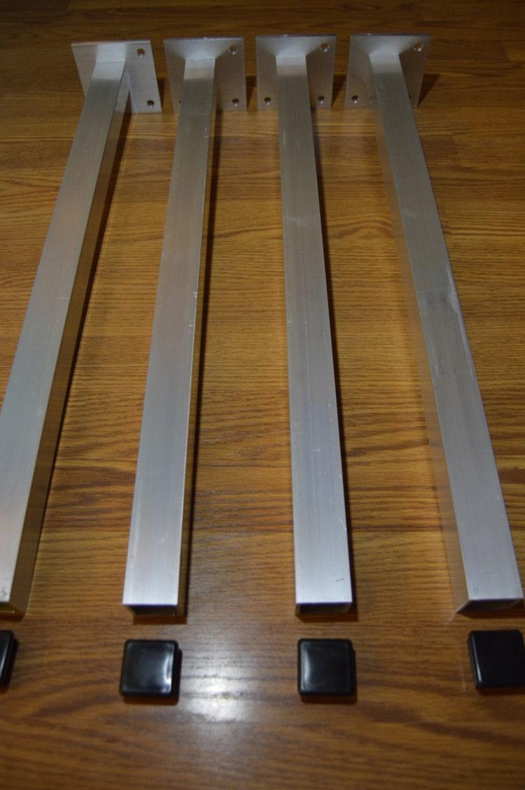 The Best Metal Table Legs 1 5 Square Set Of 4 By Handmadelegs