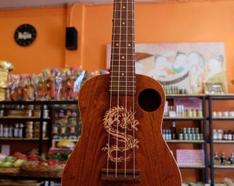 Great sound custom Thai woods handmade ukulele.Concert Size.