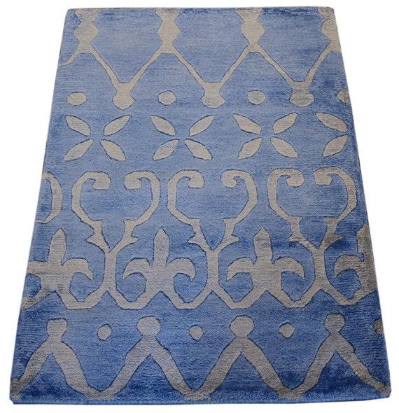 Bathroom Rugs Persian: 2x3 Nepali Oriental Rug Blue Rug Home Decor By MainStreetRugs