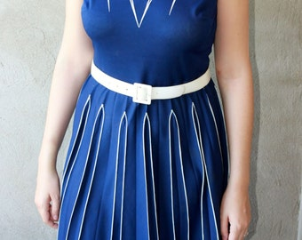 Vintage dress navy blue