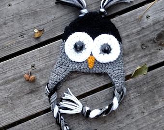 Crochet Owl Hat *Baby, Toddler, Child*
