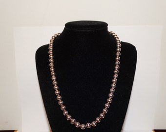 """Vintage Sterling 1/4"""" inch Bead size 19"""" Necklace."""
