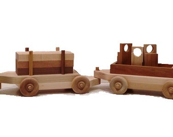 Wooden Toy Work Train