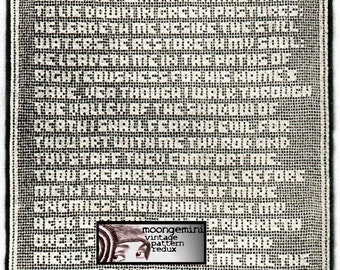 PDF 23rd Psalm Filet Crochet Wall Hanging Pattern Instant Download