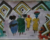 Acrylic Painting, Original Artwork, A3 Size, Acrylic painting, Home Decor , Wall ART. African ART, African women
