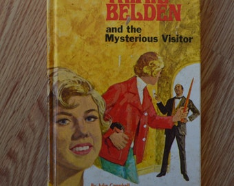 1970 Trixie Belden and the Mysterious Visitor Hard Cover Book