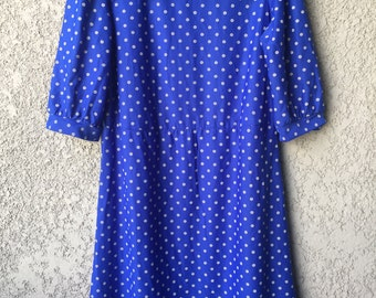 Bright blue patterned Miss Oops dress