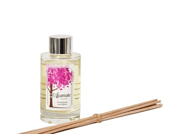 Grapefruit and Sweet Orange Aromatherapy reed diffuser with essential oils - 120 ml. Room diffuser for your studio or office