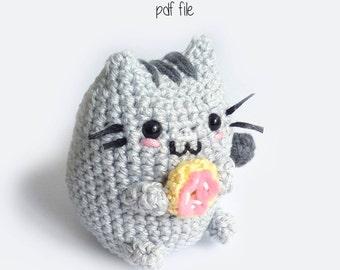 Toffoletto Donut Chubby Cat Amigurumi Pattern