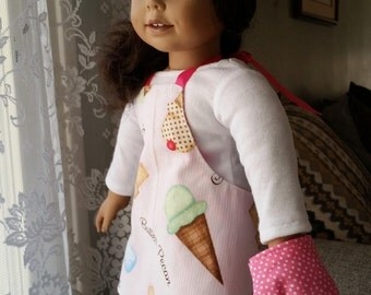 Doll Lovin' from the Oven Apron, chef hat, oven mitt in pink