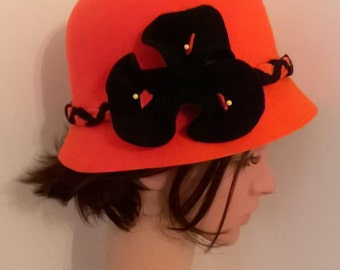 Designer cloche hat