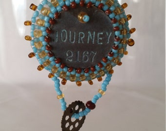 Journey Bead Embroidery Necklace - 01J55