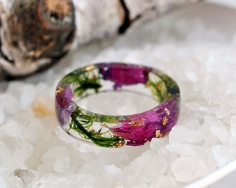 Real Moss Ring, statement ring Nature resin green moss ring, resin ring,moss, moss terrarium natural moss, resin moss rings Forest jewelry,