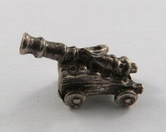 Cannon Sterling Silver Vintage Charm For Bracelet