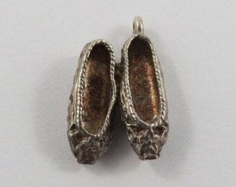 Ballet Flats Sterling Silver Vintage Charm For Bracelet