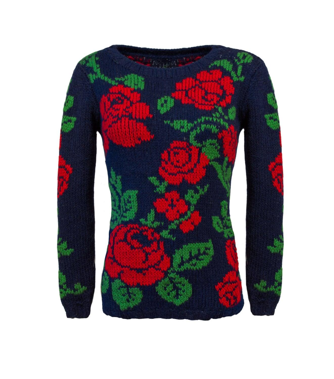 rote rosen pullover stricken mode wolle pullover gem tliche. Black Bedroom Furniture Sets. Home Design Ideas