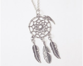 Antique Silver Dream Catcher Necklace!