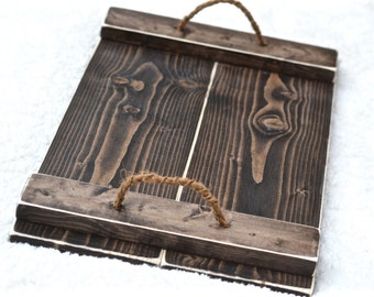 Distressed Nautical Tray, New Home Housewarming Gift, Rustic Laptop Tray Wood, Wooden Breakfast Serving Tray, Tv Trays, Coworker Gift