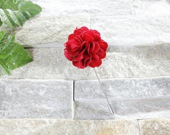 Red lapel flower. Lapel flower. Lapel pin. Flower lapel. Man lapel pin. Brooch. Flower lapel pin. Mens flower lapel. Lapel pins men.
