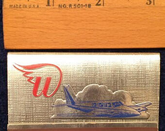 Vintage 1964 Wiggins Airways 40 Strike Matchbook Complete with 40 Matches and Unstruck Norwood Massachusetts