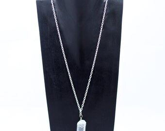 Rock Crystal on Silver Chain Necklace