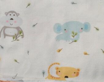 Baby Jungle Print Flannel Baby Blanket