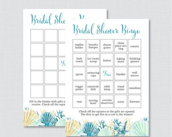 nautical bridal shower bingo printable 60 unique prefilled bingo cards and blank cards