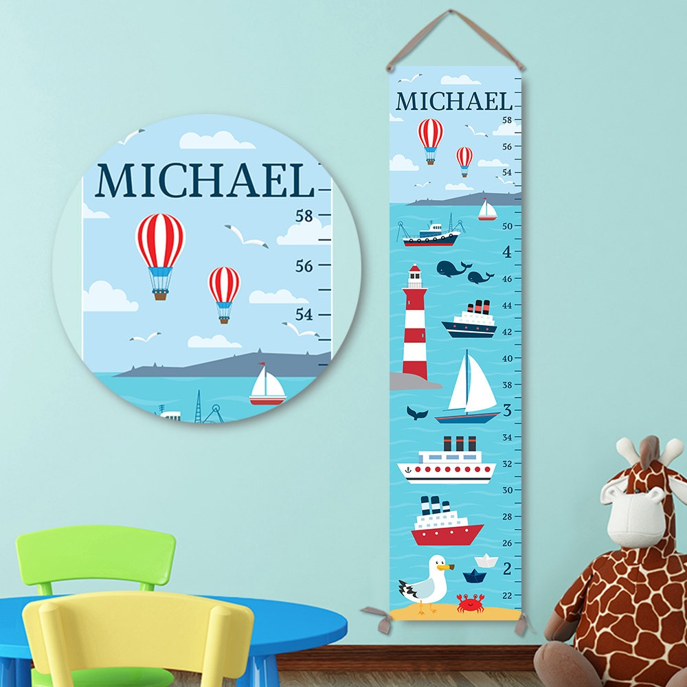 Nautical growth chart canvas personalized growth chart growth nautical growth chart canvas personalized growth chart growth chart boy ocean growth chart gc3001s nvjuhfo Gallery