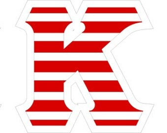 Kappa Kappa Gamma American Flag Giant Greek Letter Sticker