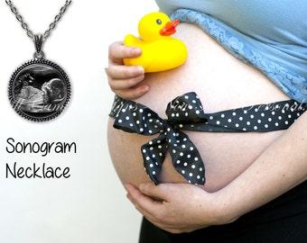 Ultrasound necklace, Sonogram necklace, Baby ultrasound