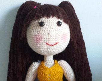 English Pattern - Seli Doll (crochet, amigurumi)